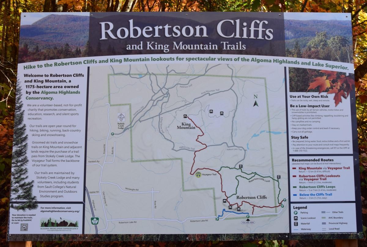 Map of Robertson Cliffs